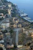Tempiale di Luxor ed il fiume Nilo - l'antenna/eleva Fotografia Stock Libera da Diritti