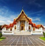 Tempiale di marmo a Bangkok Fotografia Stock Libera da Diritti