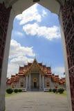 Tempiale di marmo a Bangkok Fotografie Stock Libere da Diritti