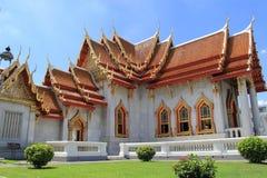 Tempiale di marmo a Bangkok Fotografia Stock