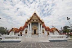 Tempiale di marmo a Bangkok, Tailandia Fotografia Stock