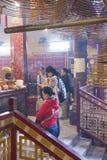 Tempiale di Mo dell'uomo a Hong Kong Immagine Stock Libera da Diritti