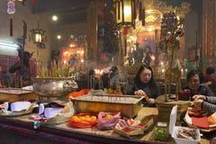 Tempiale di Mo dell'uomo a Hong Kong Immagini Stock Libere da Diritti