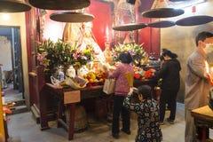 Tempiale di Mo dell'uomo a Hong Kong Immagini Stock