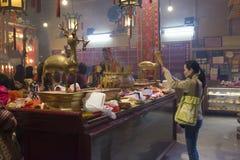 Tempiale di Mo dell'uomo a Hong Kong Fotografia Stock Libera da Diritti