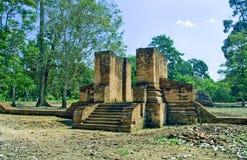 Tempiale di Muara Jambi. Immagini Stock