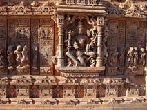 Tempiale di Nagda del particolare, Ragiastan, India Fotografie Stock