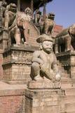 Tempiale di Nyatapola in Bhaktapur Fotografia Stock Libera da Diritti