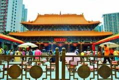 Tempiale di peccato del tai del wong di Hong Kong fotografia stock