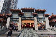 Tempiale di peccato di Wong Tai a Hong Kong fotografia stock