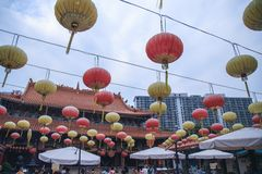Tempiale di peccato di Wong Tai a Hong Kong fotografia stock libera da diritti