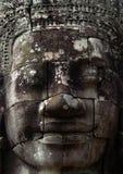 Tempiale di pietra Cambogia di Bayon del fronte Immagini Stock