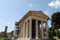 Tempiale di Portunos. Tribuna di Boario. Roma fotografia stock libera da diritti
