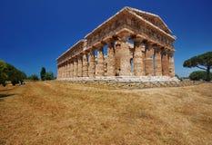 Tempiale di Poseidon, Paestum, Italia Fotografia Stock Libera da Diritti