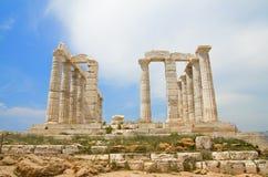 Tempiale di Poseidon - parte anteriore Fotografia Stock Libera da Diritti