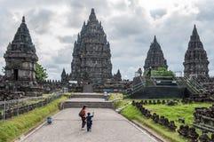 Tempiale di Prambanan Immagini Stock Libere da Diritti