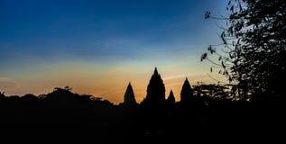 Tempiale di Prambanan Fotografia Stock