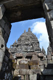 Tempiale di Prambanan Immagini Stock