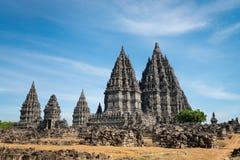 Tempiale di Prambanan, Java, Indonesia fotografie stock libere da diritti