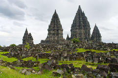 Tempiale di Prambanan. Yogyakarta, Java, Indonesia fotografie stock libere da diritti
