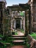 Tempiale di Preah Khan in Angkor Wat (Cambogia). fotografia stock
