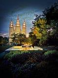 Tempiale di Salt Lake Immagini Stock