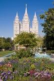 Tempiale di Salt Lake City fotografie stock