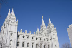 Tempiale di Salt Lake City Fotografie Stock Libere da Diritti