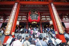 Tempiale di Senso-ji, Asakusa, Tokyo, Giappone Fotografie Stock