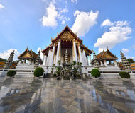 Tempiale di Sutat, Bangkok, Tailandia Fotografia Stock