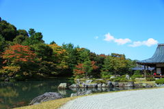 Tempiale di Tenryuji a Kyoto fotografie stock libere da diritti