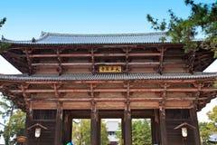 Tempiale di Todai-ji di Nara, Giappone Immagini Stock Libere da Diritti