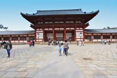 Tempiale di Todai-ji di Nara, Giappone Fotografie Stock Libere da Diritti