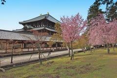Tempiale di Todai-ji di Nara, Giappone Immagine Stock