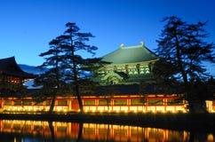 Tempiale di Todai-ji a Nara, Giappone Immagine Stock