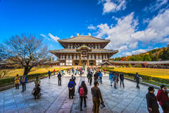 Tempiale di Todai-ji a Nara, Giappone Immagini Stock