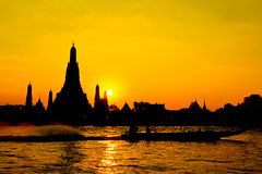 Tempiale di Wat Arun a Bangkok Tailandia Immagini Stock Libere da Diritti