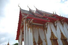 Tempiale di Wat Chalong fotografie stock