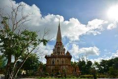 Tempiale di Wat Chalong Fotografia Stock