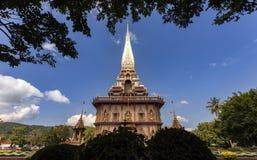 Tempiale di Wat Chalong a Phuket Tailandia Fotografia Stock Libera da Diritti