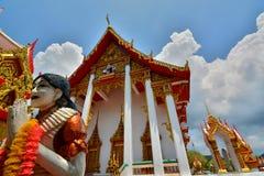 Tempiale di Wat Chalong Phuket thailand fotografia stock libera da diritti