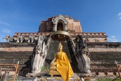 Tempiale di Wat Chedi Luang a Chiang Mai, Tailandia Fotografie Stock Libere da Diritti
