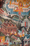 Tempiale di Wat Pho del Buddha adagiantesi Immagini Stock