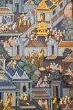 Tempiale di Wat Pho del Buddha adagiantesi Fotografie Stock