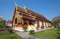 Tempiale di Wat Phra Singh, Chiang Mai, Tailandia fotografia stock libera da diritti