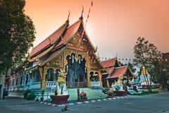 Tempiale di Wat Phra Singh in Chiang Mai, Tailandia Fotografie Stock