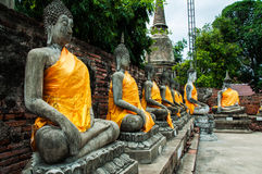 Tempiale di Wat Yai Chai Mongkol Immagine Stock