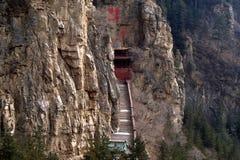 Tempiale di Xuankong costruito in scogliera Fotografia Stock