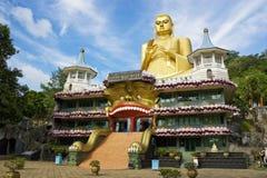 Tempiale dorato, Dambulla, Sri Lanka Immagine Stock Libera da Diritti