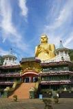 Tempiale dorato, Dambulla, Sri Lanka immagini stock libere da diritti